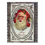 1878: A Victorian Christmas greetings card Postcard