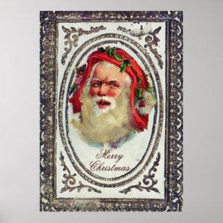 1878: A Victorian Christmas greetings card Print