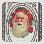 1878: A Victorian Christmas greetings card Square Sticker