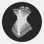 1878 Corset Classic Round Sticker