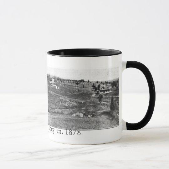 1878 Highland Hobart Short Hills NJ Panoramic Mug