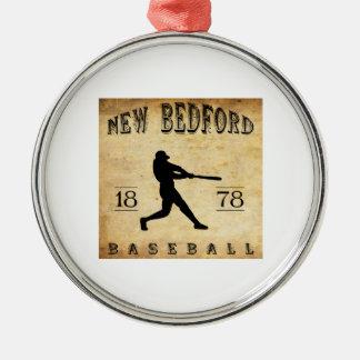 1878 New Bedford Massachusetts Baseball Metal Ornament