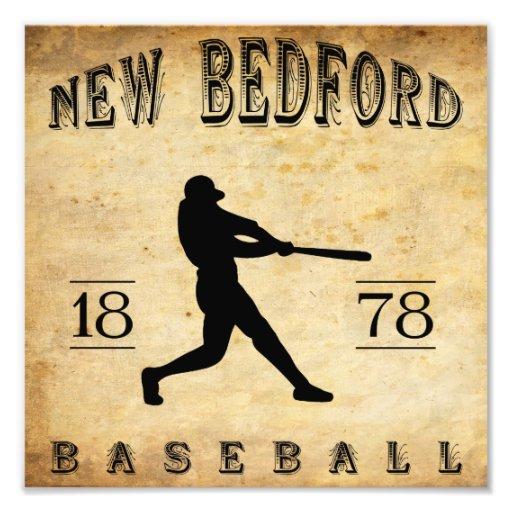 1878 New Bedford Massachusetts Baseball Photographic Print