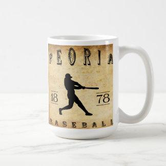1878 Peoria Illinois Baseball Coffee Mug