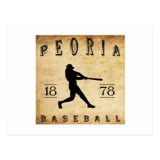 1878 Peoria Illinois Baseball Postcard
