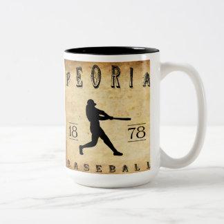 1878 Peoria Illinois Baseball Two-Tone Coffee Mug