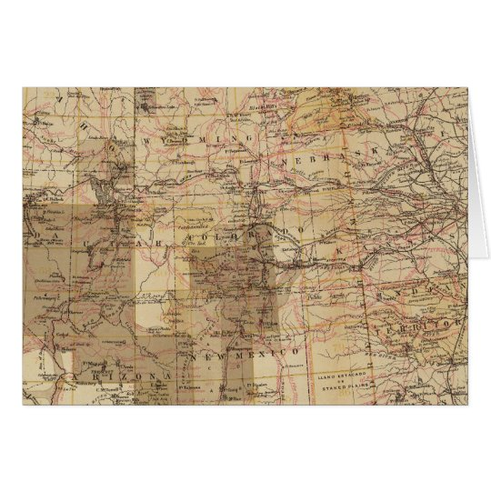 1878 Progress Map of The US Geographical Surveys 2 Card
