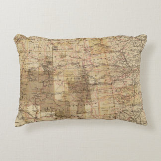 1878 Progress Map of The US Geographical Surveys 2 Accent Pillow