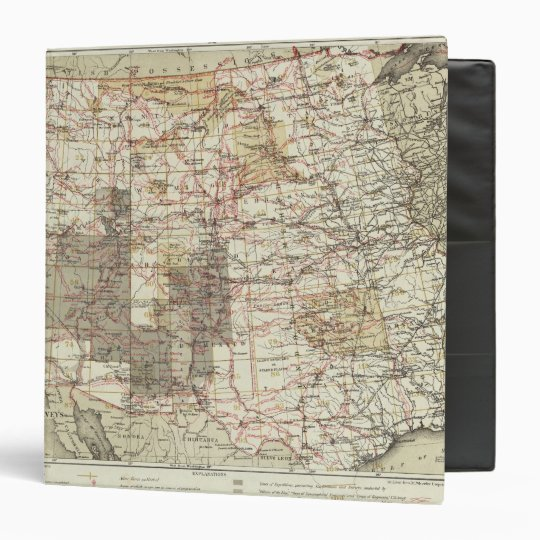 1878 Progress Map of The US Geographical Surveys 3 Ring Binder