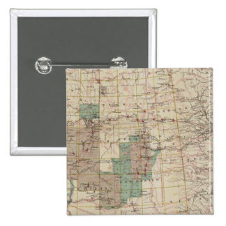 1878 Progress Map of The US Geographical Surveys Pinback Button