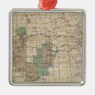 1878 Progress Map of The US Geographical Surveys Metal Ornament