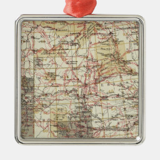 1878 Progress Map of The US Geographical Surveys Christmas Ornaments
