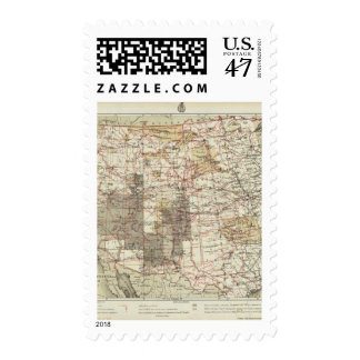1878 Progress Map of The US Geographical Surveys Postage