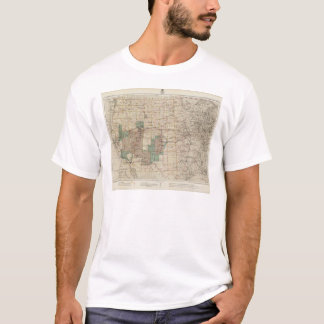 1878 Progress Map of The US Geographical Surveys T-Shirt