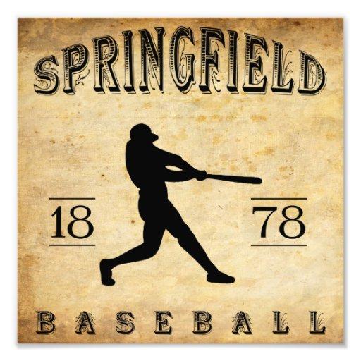 1878 Springfield Massachusetts Baseball Photo