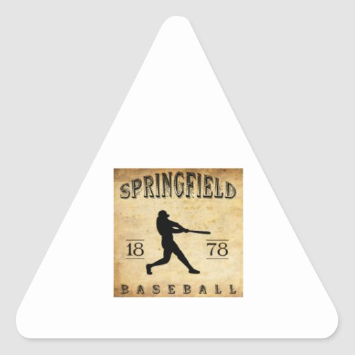 1878 Springfield Massachusetts Baseball Triangle Sticker