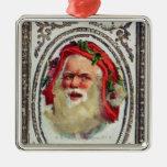 1878: Una tarjeta de felicitaciones del navidad Adorno Navideño Cuadrado De Metal