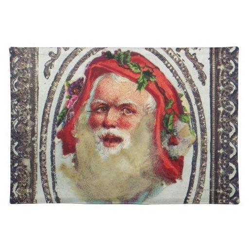 1878: Una tarjeta de felicitaciones del navidad de Mantel Individual