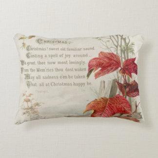 1879: A ninteenth century Christmas card Accent Pillow