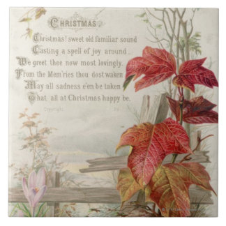 1879: A ninteenth century Christmas card Ceramic Tile