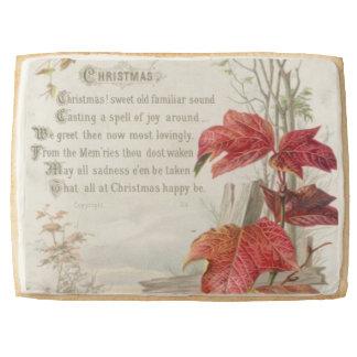 1879: A ninteenth century Christmas card Jumbo Shortbread Cookie