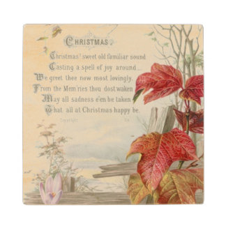 1879: A ninteenth century Christmas card Wood Coaster