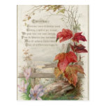 1879: A ninteenth century Christmas card Postcard