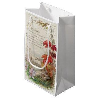 1879: A ninteenth century Christmas card Small Gift Bag