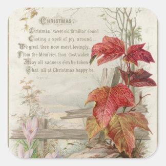 1879: A ninteenth century Christmas card Sticker
