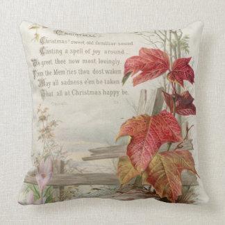 1879: A ninteenth century Christmas card Throw Pillow