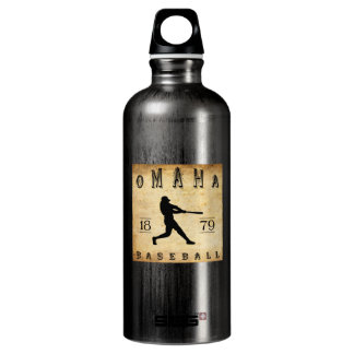 1879 Omaha Nebraska Baseball Aluminum Water Bottle