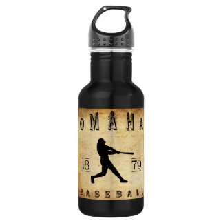 1879 Omaha Nebraska Baseball Water Bottle