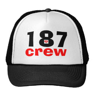 187 crew custom special edition cap-a v2dheart pro mesh hat