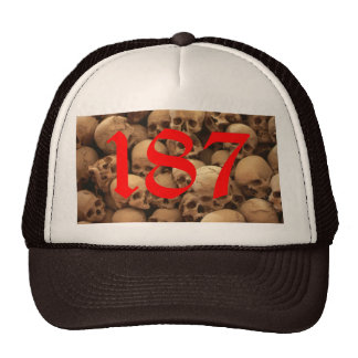 187 CUSTOM SKULLS HAT