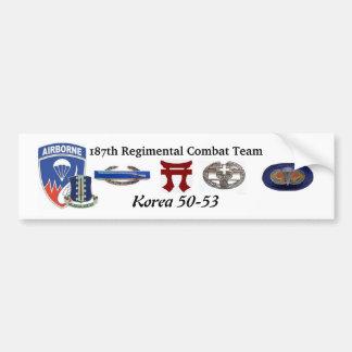 187o Pegatina para el parachoques de Corea del equ Pegatina Para Auto