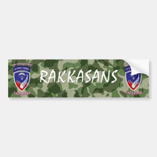 187o Regimiento de infantería Pegatina De Parachoque