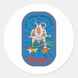 187th AHC Rat Pack Classic Round Sticker