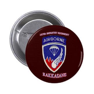 187th Infantry Regiment Pinback Button