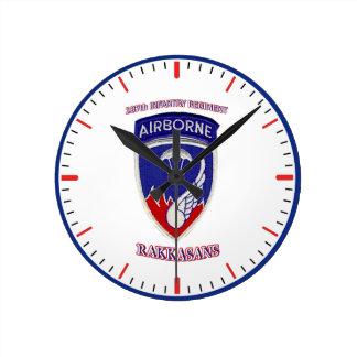 187th Infantry Regiment Round Clock