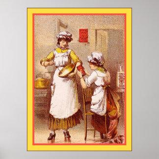 ~ 1880-1900 de la levadura en polvo de Cream del D Póster
