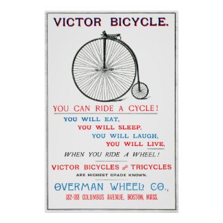 1880 Bicycle Poster