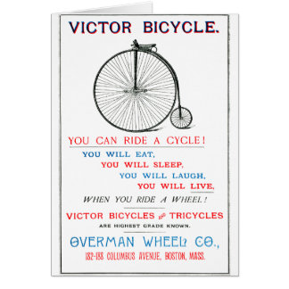 1880 Bicycle Poster Card