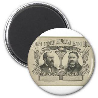 1880 Garfield - Arthur 2 Inch Round Magnet