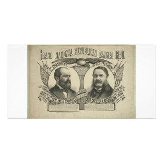 1880 Garfield - Arthur Picture Card