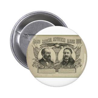 1880 Garfield - Arthur Pinback Button