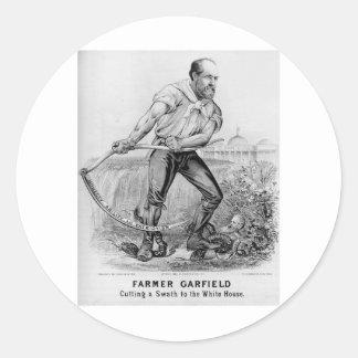 1880 Garfield Round Sticker