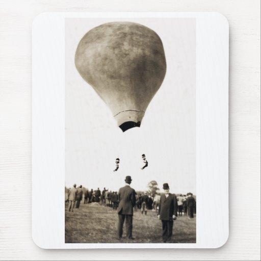 1880 Hot Air Balloon Acrobats Mouse Pad