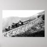 1880 Passengers trains at work Print