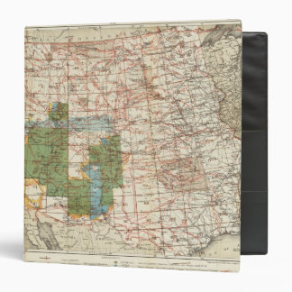 1880 Progress Map of The US Geographical Surveys 3 Ring Binder