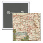 1880 Progress Map of The US Geographical Surveys 2 Inch Square Button